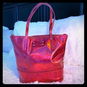 Kate spade pink shiny tote bag